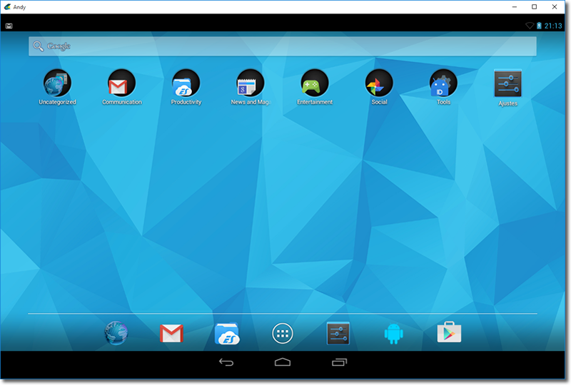Andy Os - Emulador Android para PC y Mac